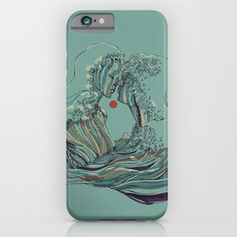 Kissing The Wave iPhone Case