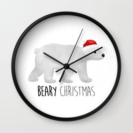 Beary Christmas | Polar Bear Wall Clock