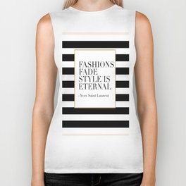 FASHION WALL ART, Fashions Fade Style Is Eternal,Fashion Illustration,Modern Art Biker Tank