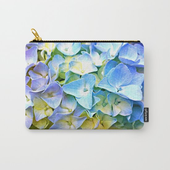 Soft Pastel Tri-Color Hydrangea Carry-All Pouch