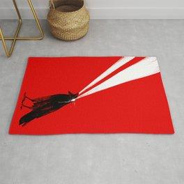Laser Crow Rug