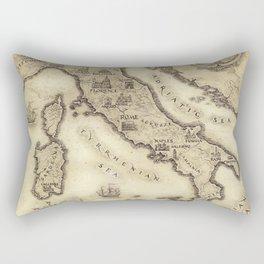 Vintage map of Italy Rectangular Pillow