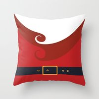 santa Throw Pillows featuring Santa by Sara Eshak