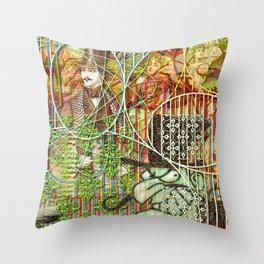 Crimson Petal's Lying Decay Throw Pillow