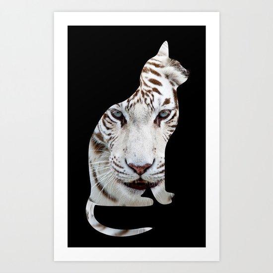 BIG AND SMALL CAT Art Print
