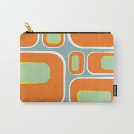 Mod Pod -Retro Turquoise Orange Carry-All Pouch