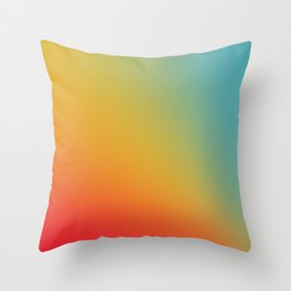 Gradient Colours: Red Yellow Blue Throw Pillow