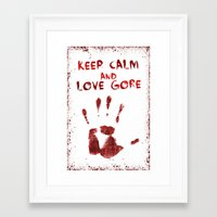 gore Framed Art Prints featuring Love Gore by Victor Rodriguez