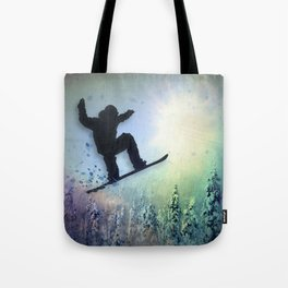 The Snowboarder: Air Tote Bag