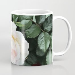 Pink Roses with Mint Coffee Mug