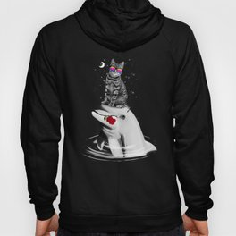 Cat and dolphin Hoody