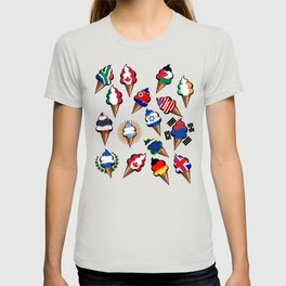 Ice cream flags T-shirt
