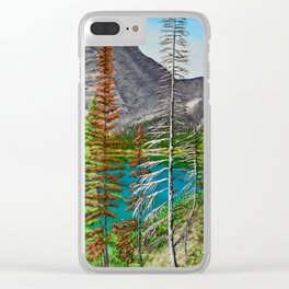 Bertha Lake, Waterton Clear iPhone Case