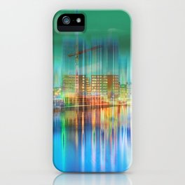 Amsterdam Habor by night iPhone Case