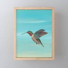 Hummingbird on the Move Framed Mini Art Print