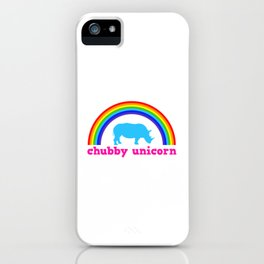 Chubby unicorn iPhone Case
