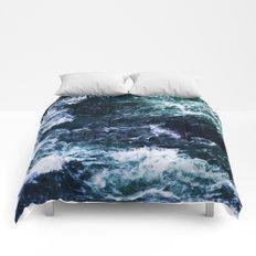 Wild ocean waves Comforters