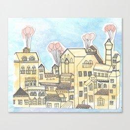 Space Town Canvas Print