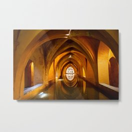 The Baths of Dona Maria de Padilla in Royal Alcazar in Seville, Spain Metal Print