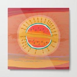 Sun Watermelon Mutants Sequence 1 Metal Print
