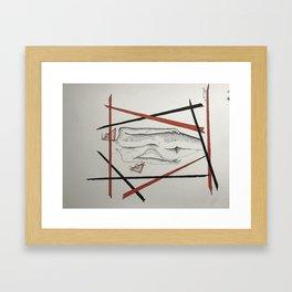 Ruin ladie Framed Art Print