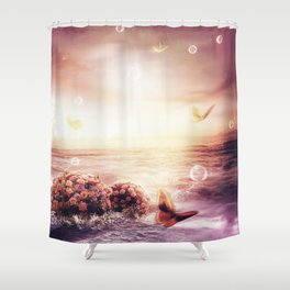 You're burst into my heart Shower Curtain