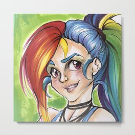 Rainbow Dash (My Little Pony Humanized) Metal Print