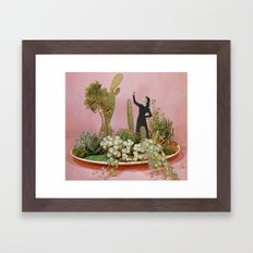 The Wonders of Cactus Island Framed Art Print