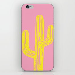 Pink and Yellow Cactus iPhone Skin