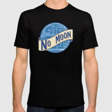 No Moon Brewery Mens Fitted Tee Black SMALL