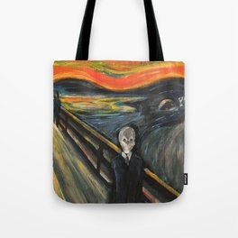 The Silence - When The Doctor Meets Munch Tote Bag