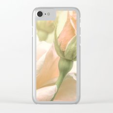 Gentle Roses Clear iPhone Case
