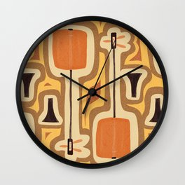 Retro Shamisen  Wall Clock