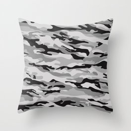 Mid Night Camo Throw Pillow