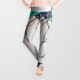 Egon Schiele - Crouching Woman with Green Headscarf - Digital Remastered Edition Leggings