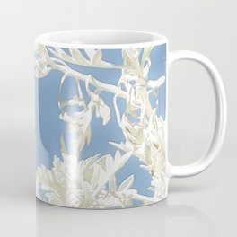 White Plants over Blue Sky Coffee Mug