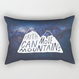 Faith can move mountains Rectangular Pillow