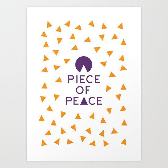 a piece of peace Art Print