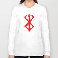 berserk Long Sleeve T-shirts featuring Cursed Mark by CaptainSunshine
