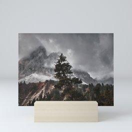 Tall Mountain Tree Mini Art Print
