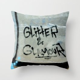Glitter and glamour Throw Pillow