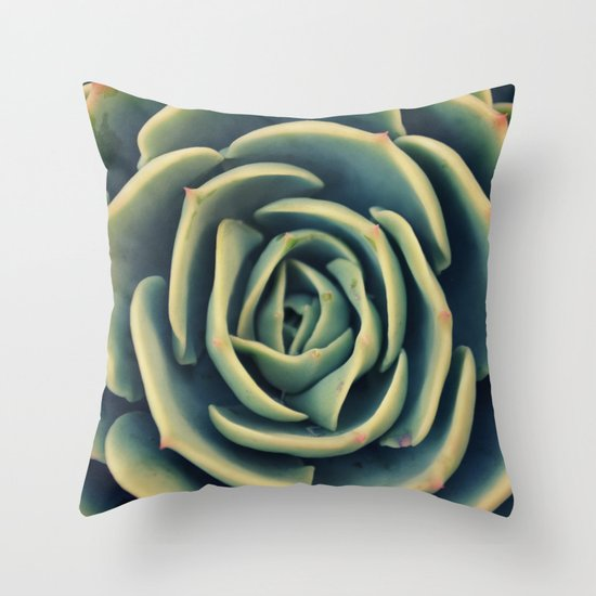 Echeveria x Imbricata Succulent Throw Pillow
