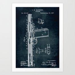 1897 - Firearm patent art Art Print
