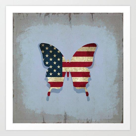 usa butterfly Art Print