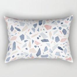 Terrazzo vintage pastel blue pink Rectangular Pillow