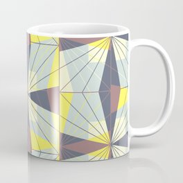 It's complicated. Bold geometric pattern in marsala, yellow and charcoal. Coffee Mug