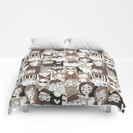 Crowd Pattern Comforters