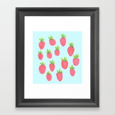 just a bunch of strawberries  Framed Art Print