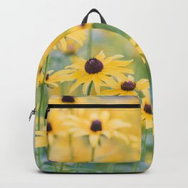 Sunny Disposition - Field of Wildflowers Photography Backpack