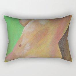 Young Beautiful Nude Woman Reclining In Sheets Rectangular Pillow